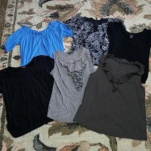 6 tops - short sleeved or sleeveless